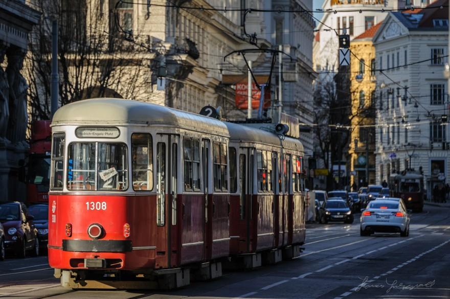 A Tram in vienna