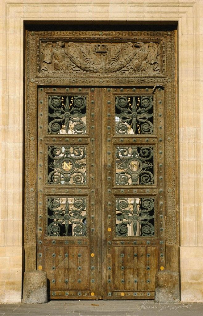 Rear door of thge Louvre