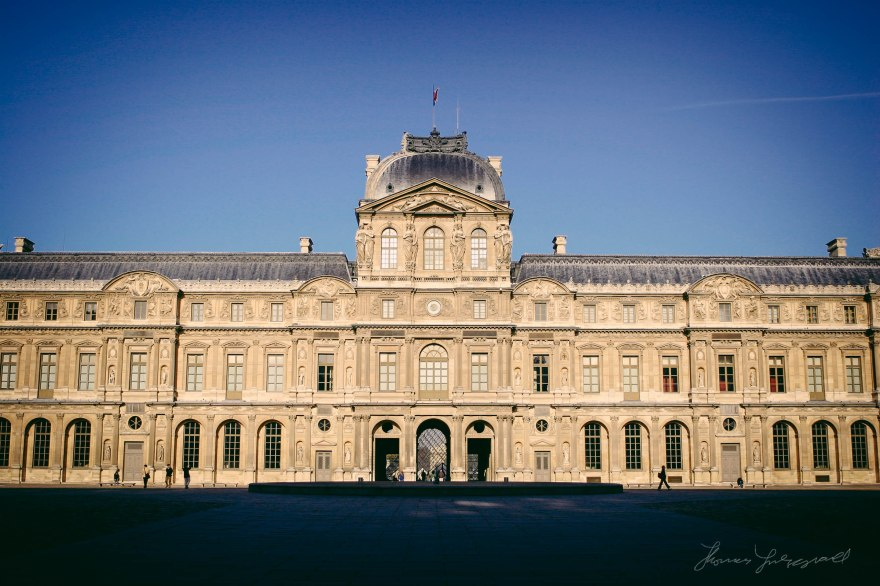 Courtyard in Museum of The Louvre, Paris, France.